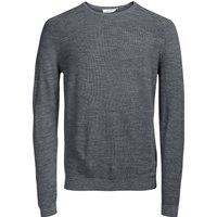 grigio chiné;Marine;Nero uomo Pull scollo rotondo 100% lana mérinos