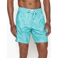 Hawaiian Floral Print Swim Shorts
