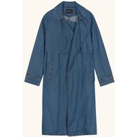 Swanne Denim Trench Coat.