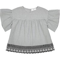 Striped Embroidered Blouse, 3-12 Years