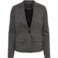 Straight Cut Checked Blazer