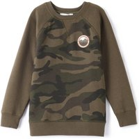 Camouflage Print Sweatshirt, 3-12 Years