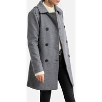 Tailored-Collar Coat with Tie-Waist