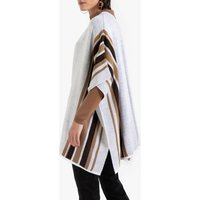 Fine Knit Striped Poncho