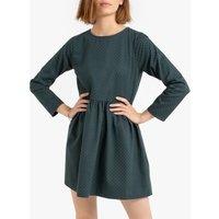 Cotton Short Skater Dress in Polka Dot