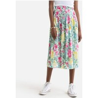 Floral Print Pleated Skirt.
