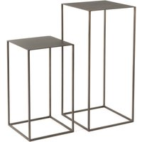 AM.PM OMYXIE Metal Nesting Console Tables (Set of 2)
