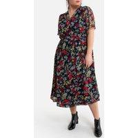 shop for Floral Wrapover Midaxi Dress at Shopo