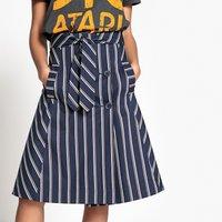 Striped Midi Skater Skirt