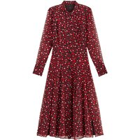 shop for Animal Print Shirt Dress in Midaxi Length with Long Sleeves at Shopo
