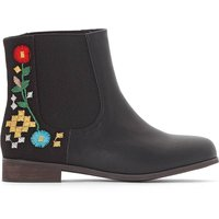 Embroidered Floral Boots, 28-39