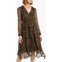 shop for Boho Wrapover Dress in Floral Print at Shopo