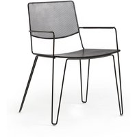 Wallace Perforated Metal Dining Armchair.