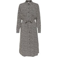 shop for Printed Shirt Dress with Tie-Waist at Shopo