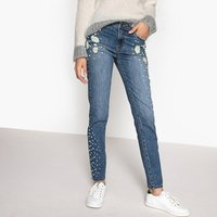 Pearl Distressed High Waist Mom Jeans