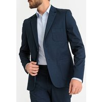 Straight Cut Suit Jacket in Cotton with Single-Breasted Buttons