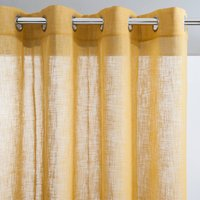 Linen Effect Voile Panel with Eyelet Header