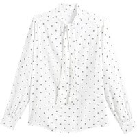 shop for Pussy Bow Blouse in Polka Dot Print at Shopo