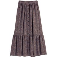 shop for Tiered Maxi Skirt in Micro Animal Print at Shopo