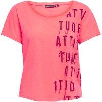 T-shirt rosa donna T-shirt scollo rotondo maniche corte