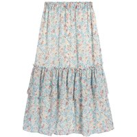shop for Tiered Boho Midaxi Skirt in Printed Voile at Shopo