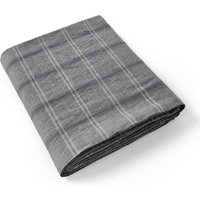 Kenka Checked Linen Flat Sheet