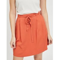 Draping Mini Skirt with High Tie-Waist.