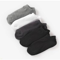 Pack of 5 Pairs of Plain Ankle Socks