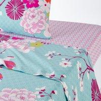 Miss China Oriental Floral Print Cotton Flat Sheet