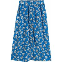 shop for Buttoned Floral Midi Skirt with Tie-Waist at Shopo