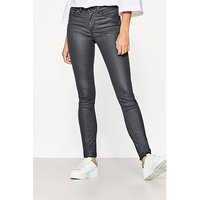 Coated Slim Fit Cigarette Trousers