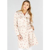 Floral Print Trenchcoat