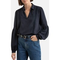 shop for Embroidered Shirt-Collar Blouse at Shopo