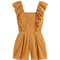 shop for Cotton Playsuit with Broderie Anglaise Ruffles at Shopo