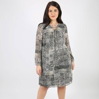 Printed Dress with Criss Cross Front