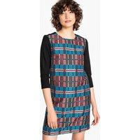 shop for Checked Jacquard Shift Dress at Shopo