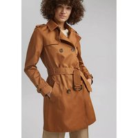Cotton Buttoned Trench Coat with Belt