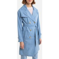 Light Denim Trench Coat
