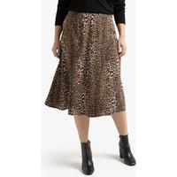 shop for Leopard Print Midi Skirt at Shopo