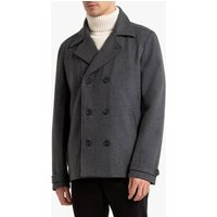 Wool Mix Double-Breasted Pea Coat