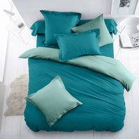Two-Tone Cotton Duvet Cover