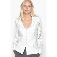 Fitted Guipure Lace Blazer