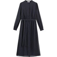 shop for Midaxi Shirt Dress in Polka Dot with Long Sleeves and Buttons at Shopo