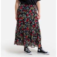 shop for Ruffled Boho Midaxi Skirt in Floral Print at Shopo