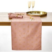 Nordic Star Christmas Table Runner in a Gold-Coloured Print.