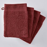 Pack of 4 Plain Organic Cotton Towelling Wash Mitts