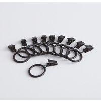 Set of 10 Onega Metal Curtain Rings (Diameter 3.6cm)