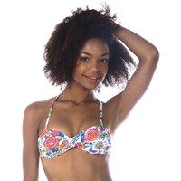 Boro Camino Halterneck Mix And Match Bikini Top With Floral Print