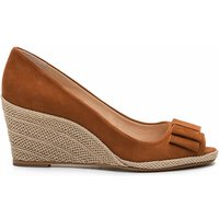 Mayana2 Nub Leather Wedge Heel Sandals