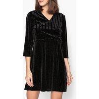 Frimer Iridescent Velour Midi Dress